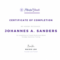 Mindful Breath Certificate of Completion